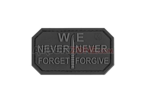 Patch Cauciuc - Mesaj Never Forget - Black imagine