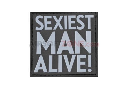 Patch Cauciuc - Mesaj Sexiest Man Alive - Swat imagine