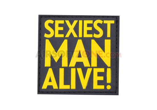 Patch Cauciuc - Mesaj Sexiest Man Alive - Color imagine