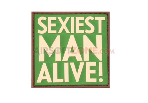 PATCH CAUCIUC - MESAJ SEXIEST MAN ALIVE - MULTICAM