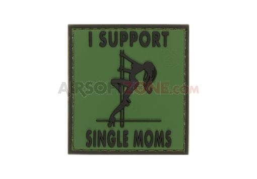 Patch Cauciuc - Mesaj I Support Single Mums - Forest imagine