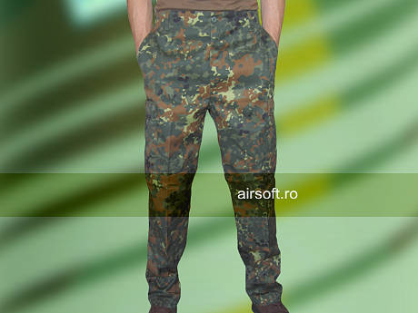 Pantaloni Model Us - Bdu Field Camuflaj Flecktarn imagine