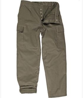Pantaloni Moleskin Oliv imagine