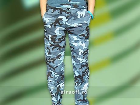 Pantaloni Dama - Model Ripstop Prespalati (SKYBLUE) imagine