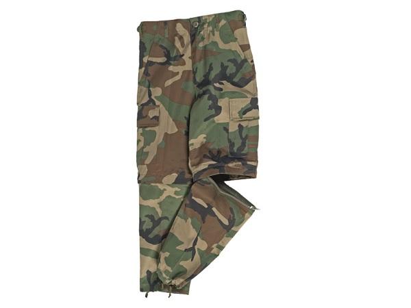 Pantaloni Copii Us Bdu Style Zipp-Off - Woodland imagine