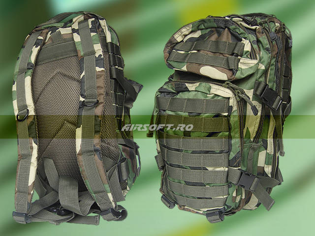 Rucsac De Asalt Model U.S.- Woodland imagine
