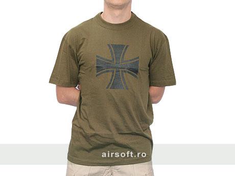 Tricou Culoare Oliv Imp. Crucea Wehrmacht imagine