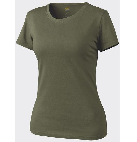 Tricou De Dama Cu Maneca Scurta - Olive Green imagine