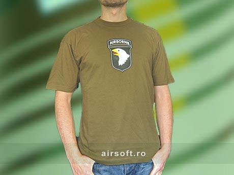 Tricou Oliv Cu Imprimeu Airborne imagine
