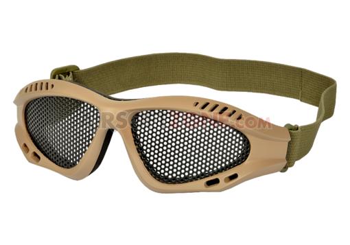 Ochelari De Protectie Model Combat Steel Mesh - Tan imagine