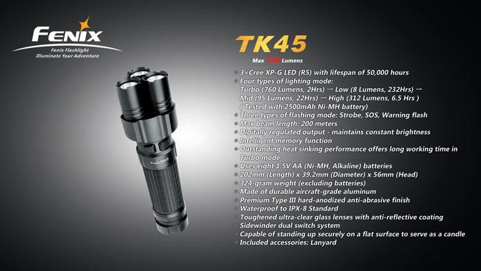 Imagine  579.0 lei, FENIX Lanterna Model Tk45 R5