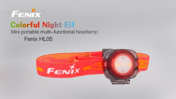 Imagine Fenix Lanterna Frontala Model Hl05  - Red