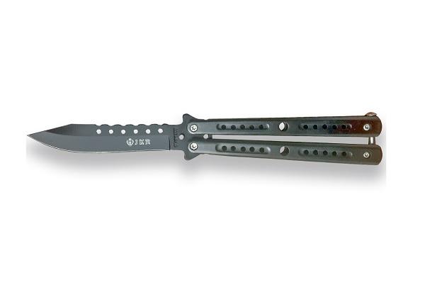 Briceag Tip Fluture - 10.5 Cm - Grey imagine