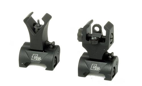 FLIP-UP FRONT SIGHT SI REAR SIGHT PENTRU SERIA M16 - BLACK