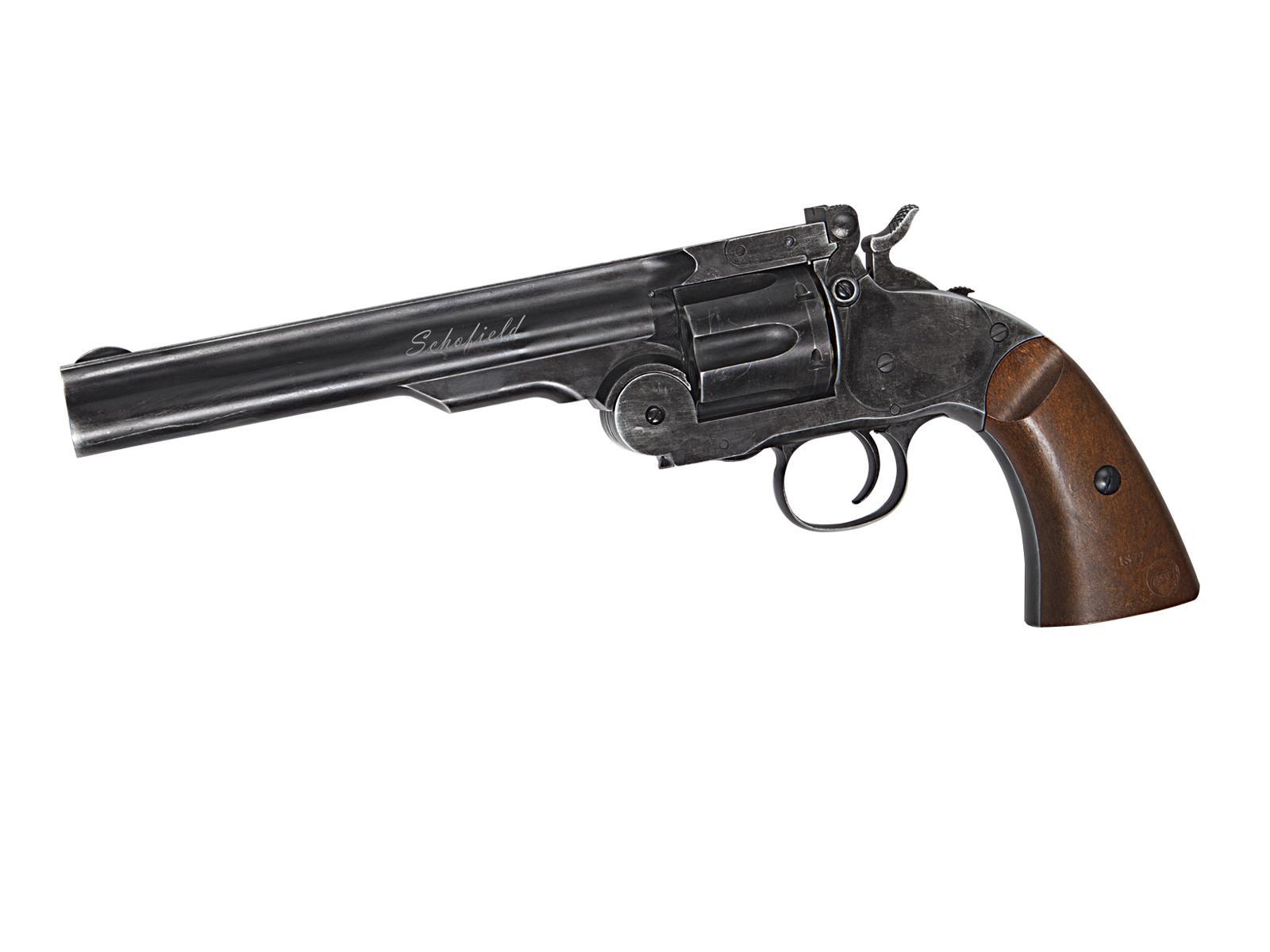 Revolver Model Schofield 6 Inch - Aging Bk - Wooden Grip imagine