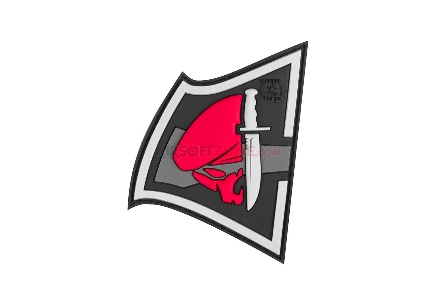 Patch Cauciucat - Rebel Skull - Color imagine