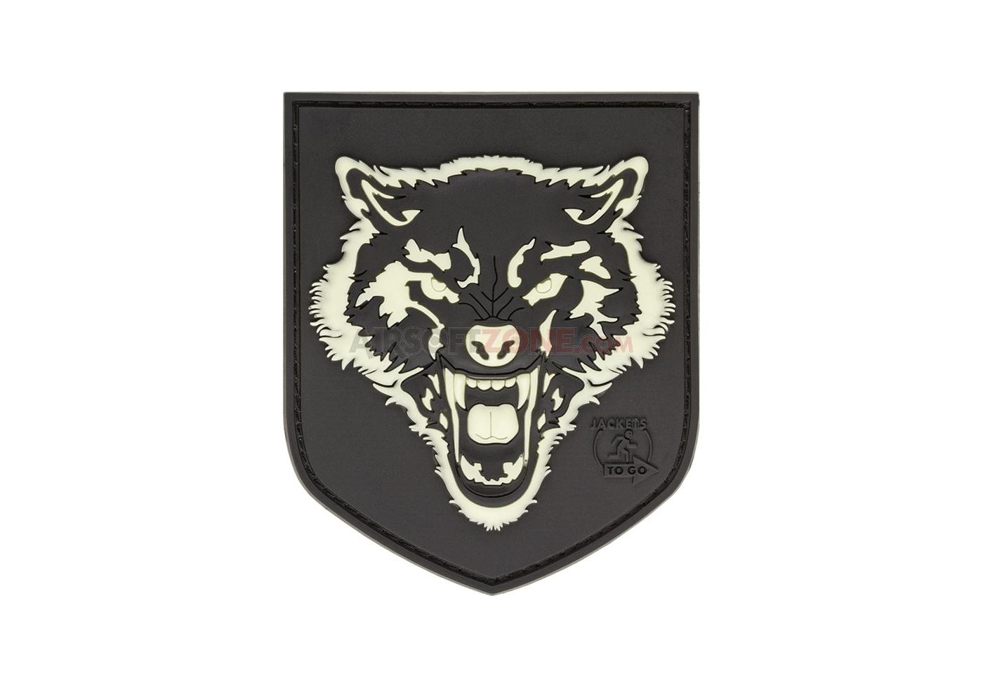 Patch Cauciuc - Wolf Shield - Glow In The Dark imagine