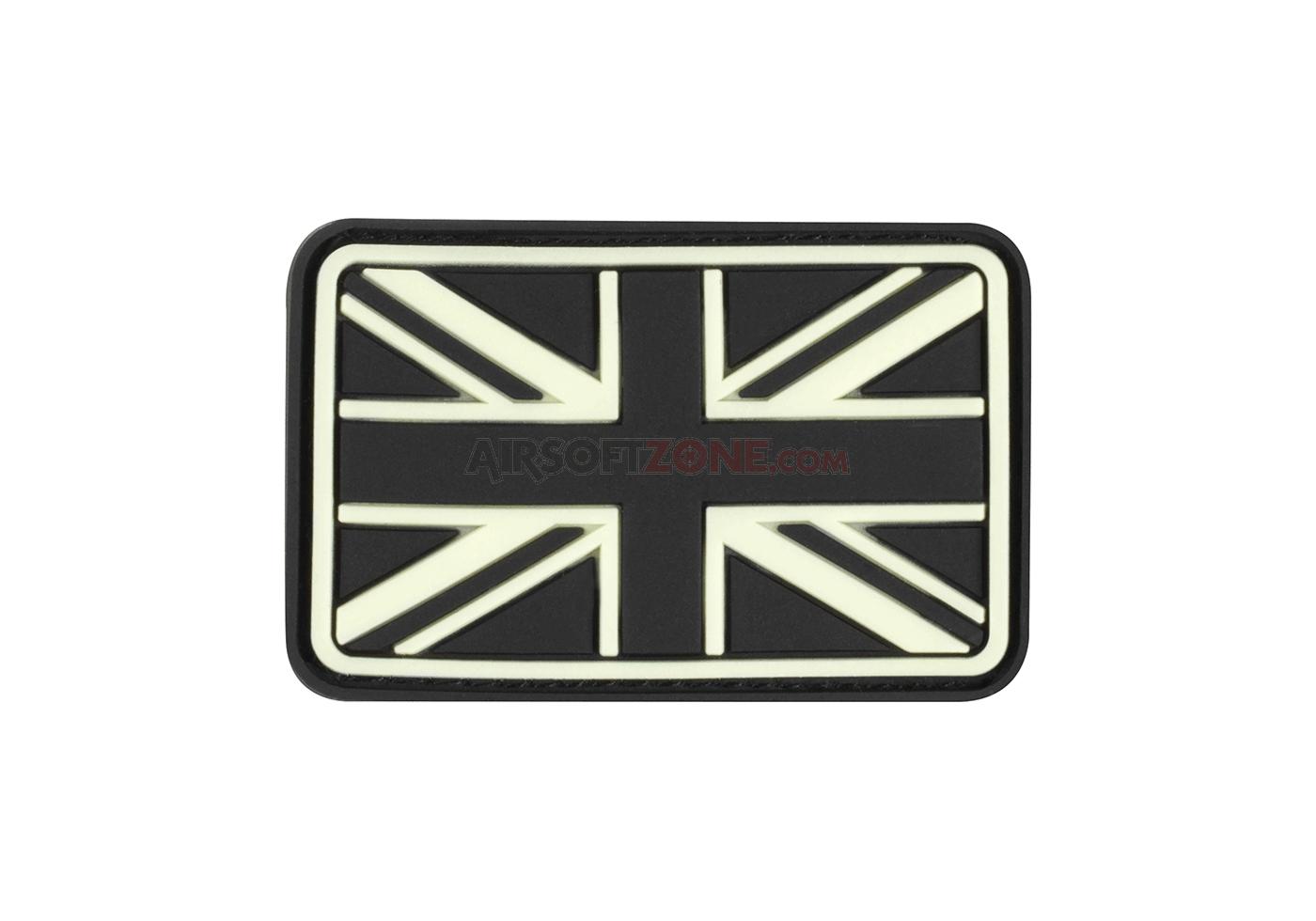 Patch Cauciucat - Small Great Britain Flag - Glow In The Dark imagine