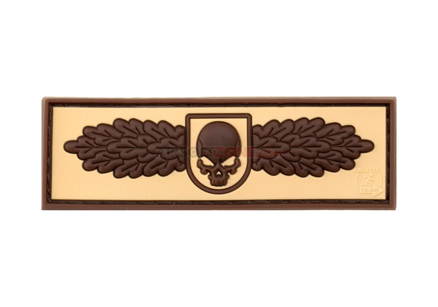Patch Cauciucat - Sof Skull Badge - Desert imagine