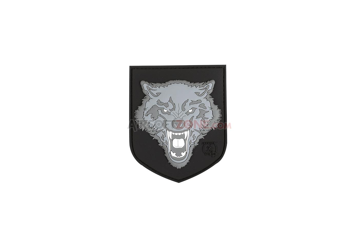 Patch Cauciuc - Wolf Shield - Grey imagine