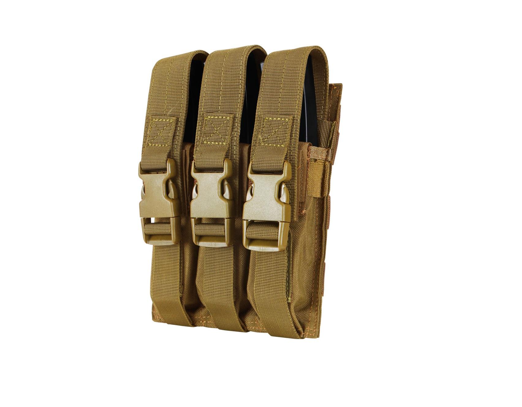 PORT INCARCATOR TRIPLU PENTRU MP5 - COYOTE BROWN