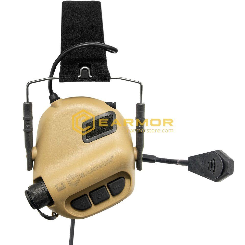 ANTIFOANE ACTIVE MODEL M32 TACTICAL MOD3 PLUS COMUNICATIE - TAN