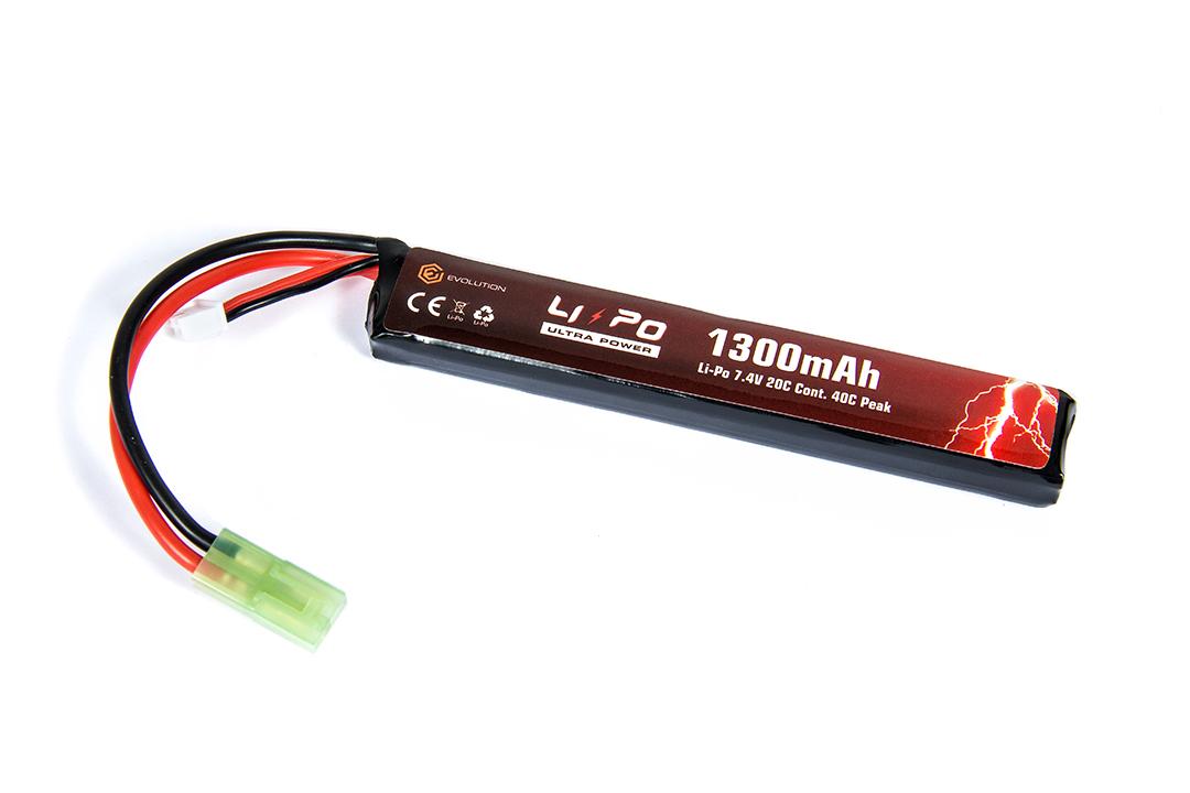 Lipo - Acumulator Ultra Power 7.4v - 1300 Mah - 20c - Mini-Type - Single imagine