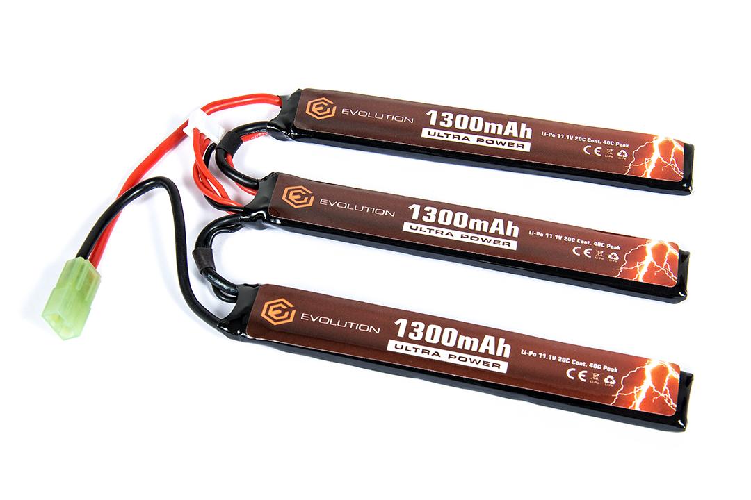 Lipo - Acumulator Ultra Power 11.1v - 1300 Mah - 20c - Mini-Type imagine