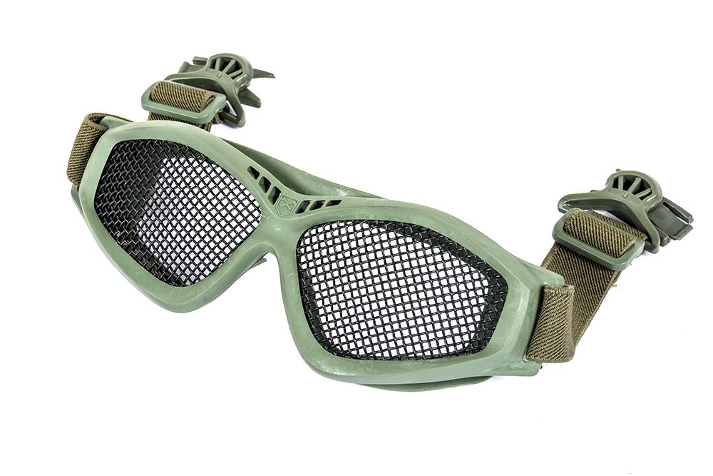 Ochelari Cu Plasa Plus Clip Pentru Prindere Pe Casca - Od Green imagine