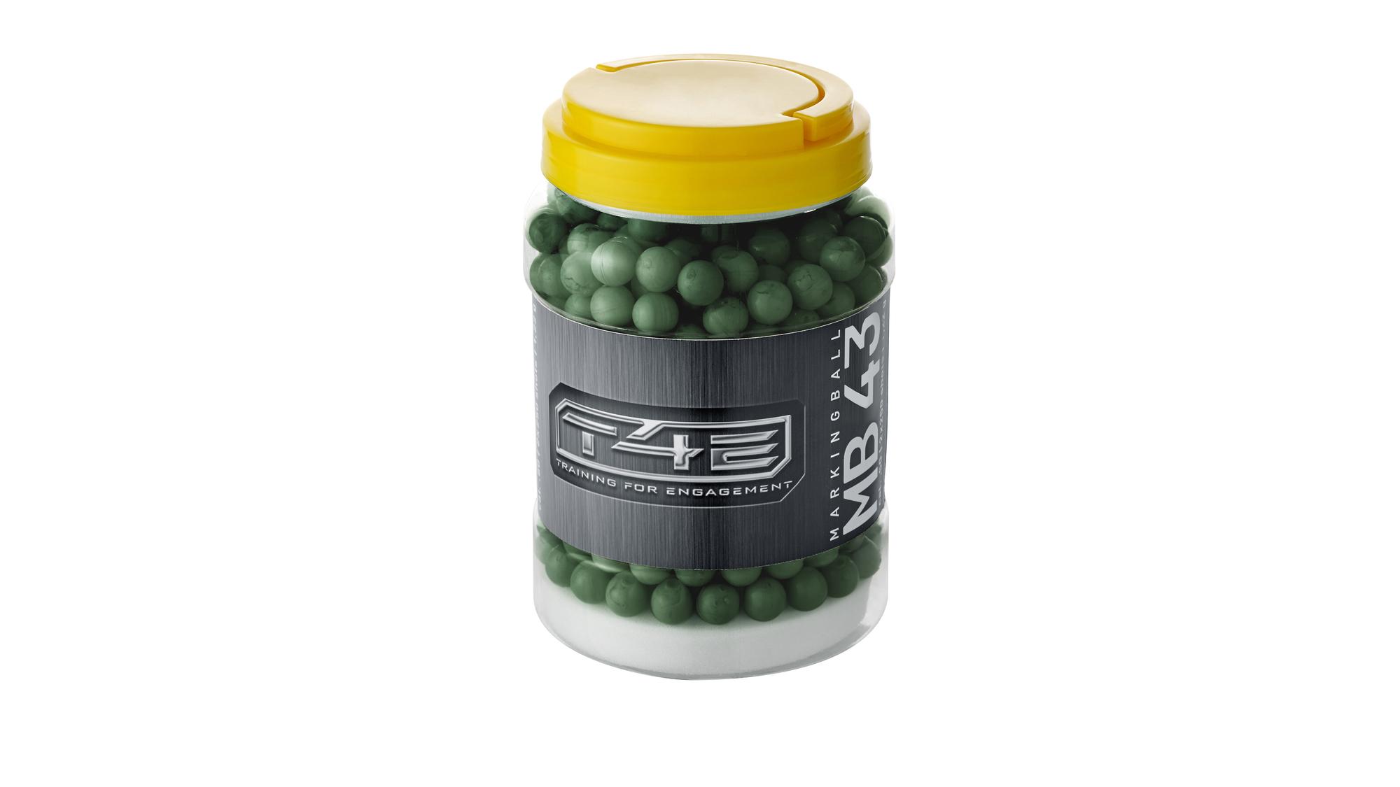 BILE CU VOPSEA CAL. .43 - GREEN - 2X250 BUC.