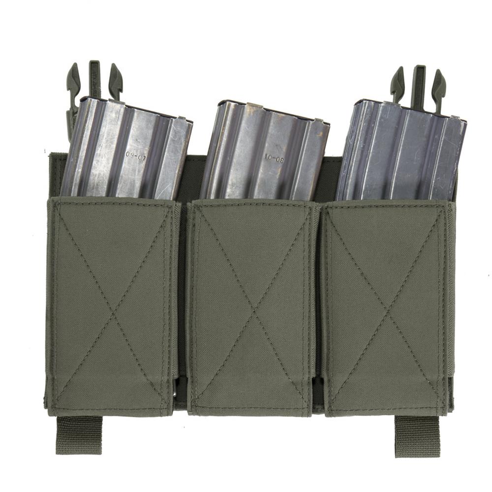 Detachable Triple Elastic Molle Pouch - Ranger Green imagine