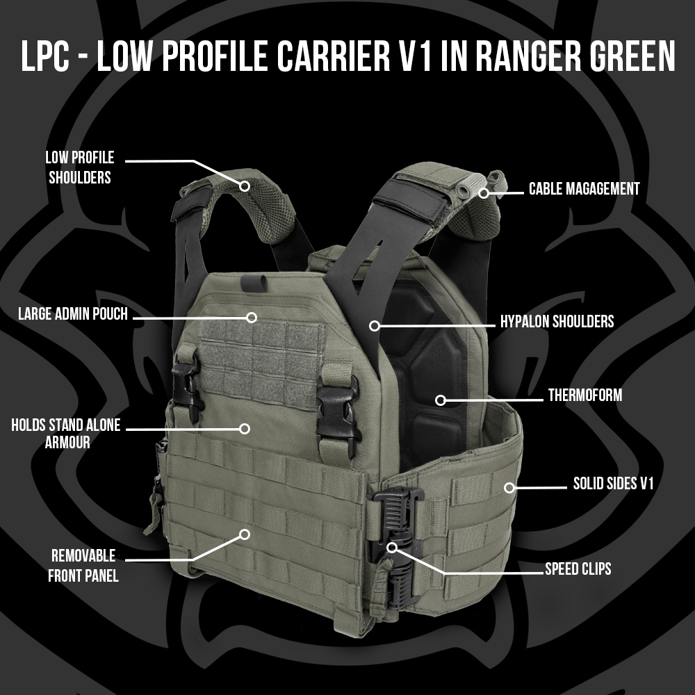 Imagine 1250.0 lei, WARRIOR ASSAULT SYSTEMS Low Profile Carrier V1 Ranger Green