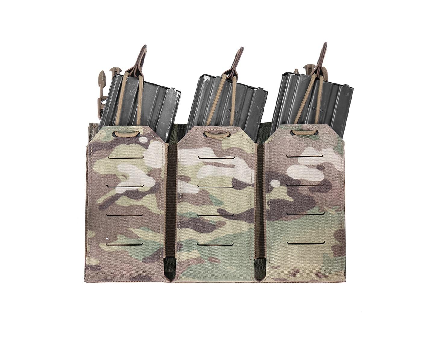Laser Cut Detachable Triple Bungee 5.56 Panel - Multicam imagine